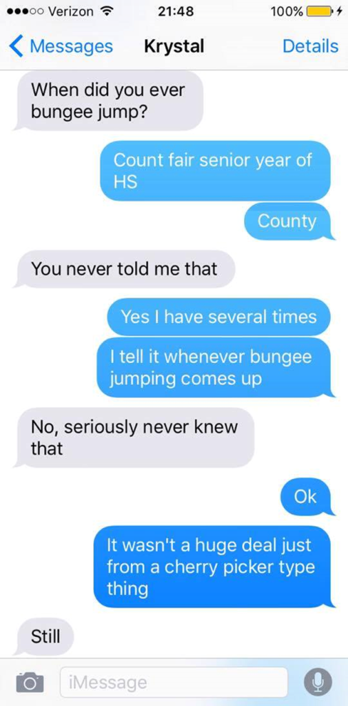 Bungee Jumping Texts