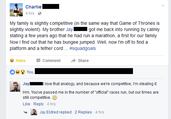 Sibling Rivalry on Facebook