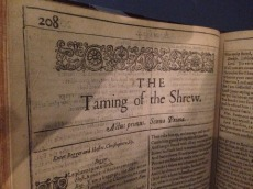 first-folio-taming-of-the-shrew