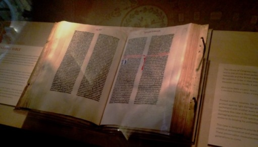 Gutenberg Bible Close Up