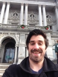 Library of Congress Entrance Selfie