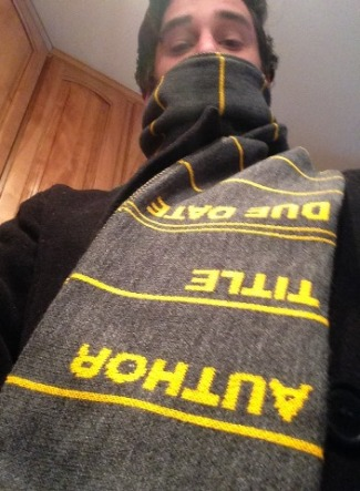 Library Card Scarf from Out of Print Clothing