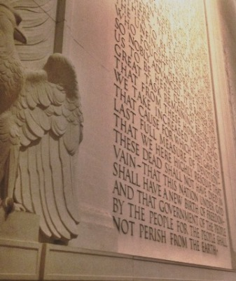 Lincoln Memorial Gettysburg Address
