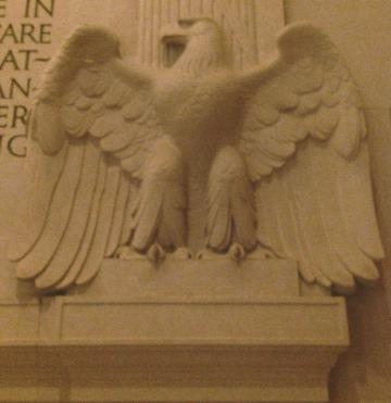 Lincoln Memorial Eagle