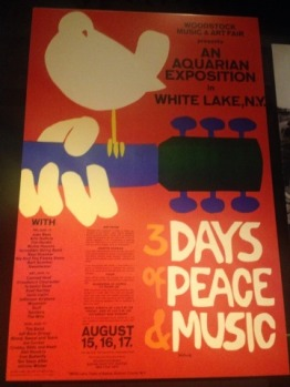 Woodstock poster. Woodstock took place mere miles from my hometown.