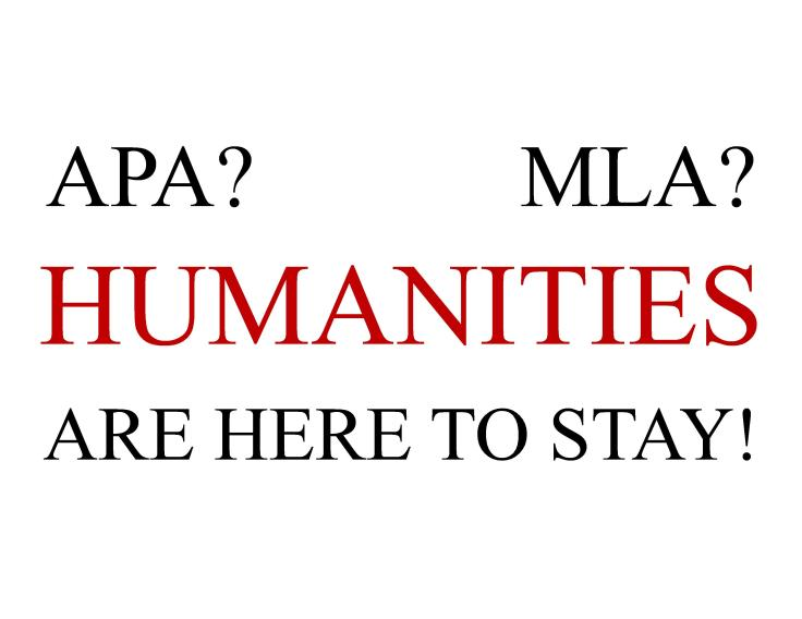 Humanities are here to stay poster