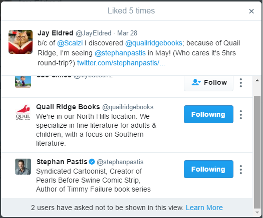 stephan pastis pearls hogs the road liked tweet