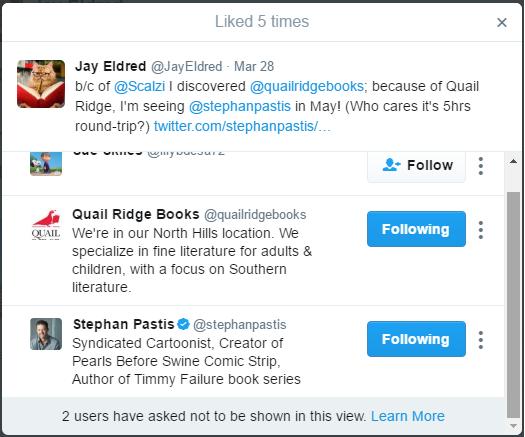 stephan pastis pearls hogs the road liked tweet