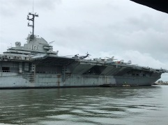 Close to USS Yorktown