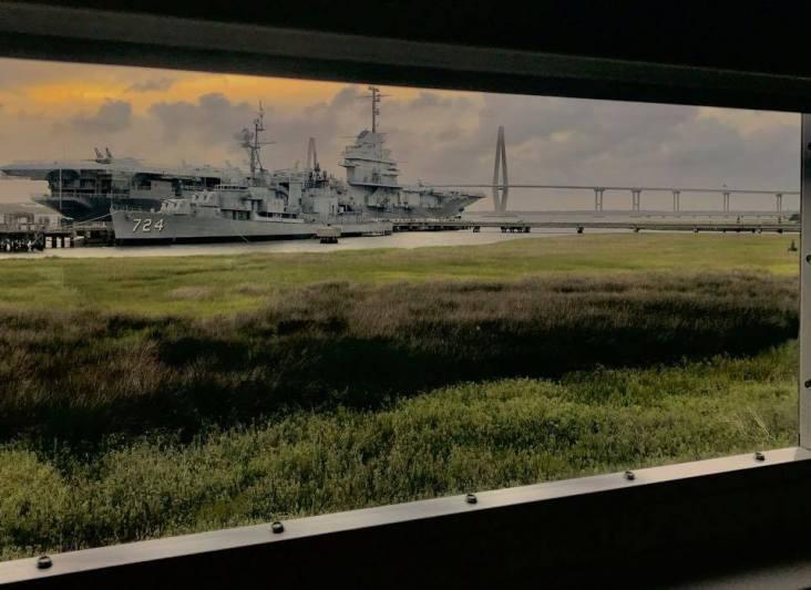 USS Yorktown and Ravenel Bridge