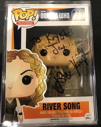 Alex Kingston autograph 1 Raleigh Supercon 2017