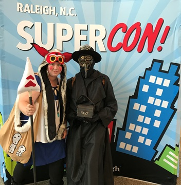 Mononoke and Plague Doctor Raleigh Supercon 2017