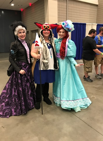 Mononoke, Elsa, and Anna Raleigh Supercon 2017
