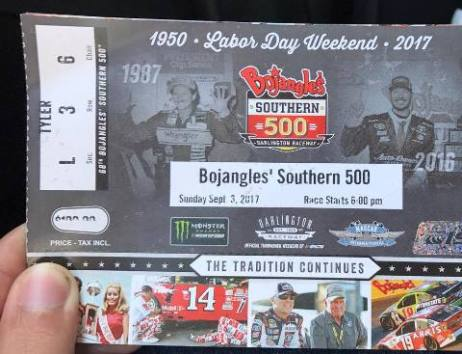 Darlington 2017 ticket
