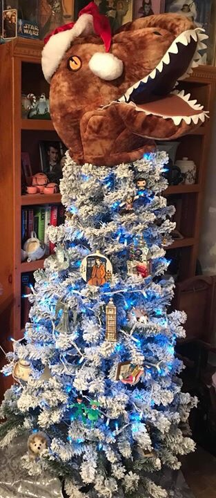 It's become our tradition to have a non-traditional Christmas tree. Our  ornaments are nearly all nerd/geek/fandom related, and this year's tree  topper is ... - Yes, This Is Our Christmas Tree. No, This Is Not A Joke. €� Running