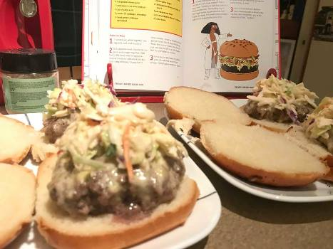 one horse open slaw burger 2
